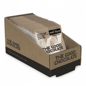 Salted Almond Chocolate Square Pack Of 18